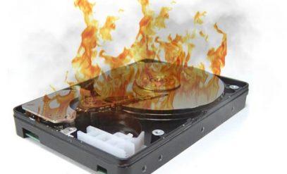 burned hard disk