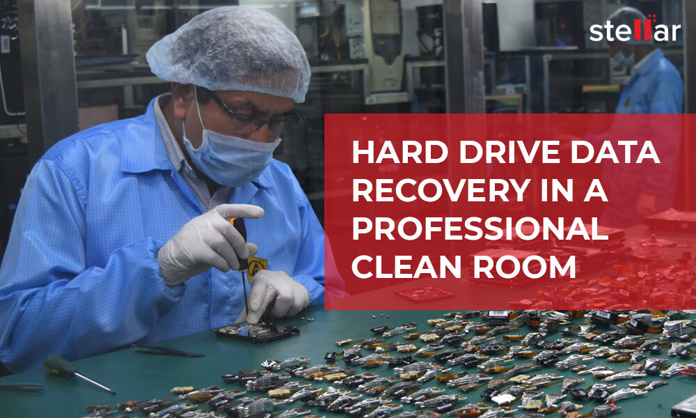 Hard Drive Data Recovery in a Professional Clean Room