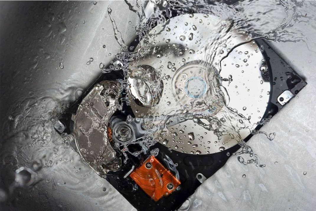 Water Damaged Hard Disk