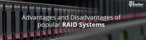 Advantages and disadvantages of popular raid systems