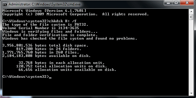 Windows detected a hard disk problem, using chkdsk