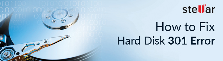 How to fix hard drive error code 301?