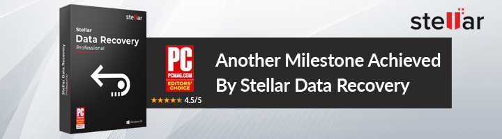 Stellar Phoenix Windows Data Recovery Wins the Prestigious Editors' Choice Award from PC Magazine
