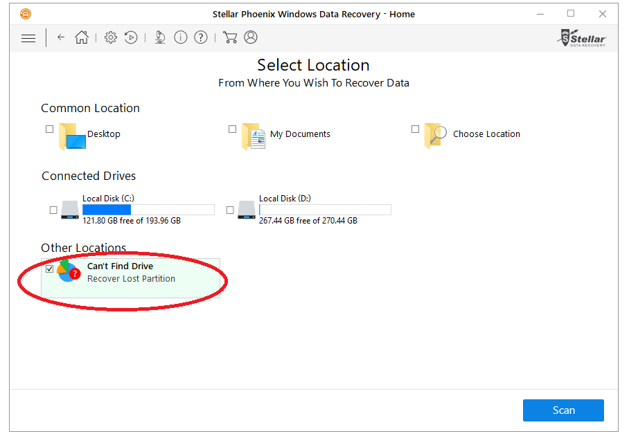 Stellar windows data recovery folder location