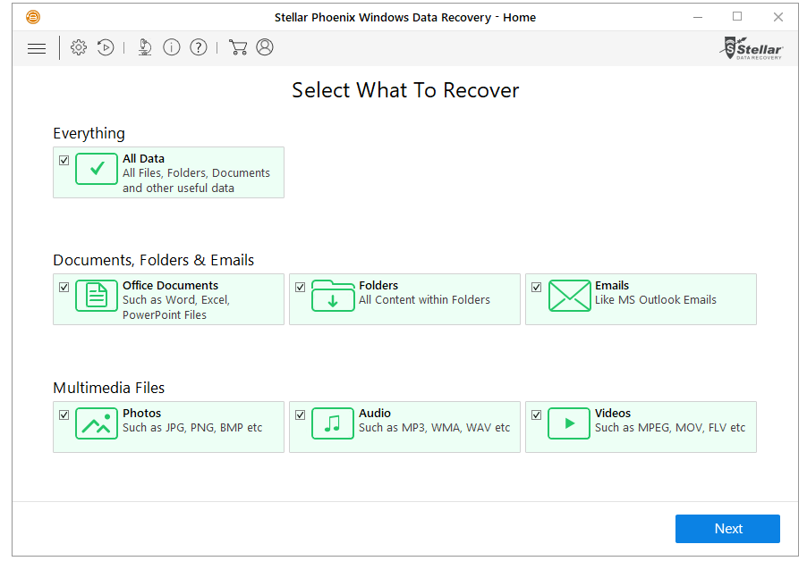 Stellar Windows Data Recovery Software
