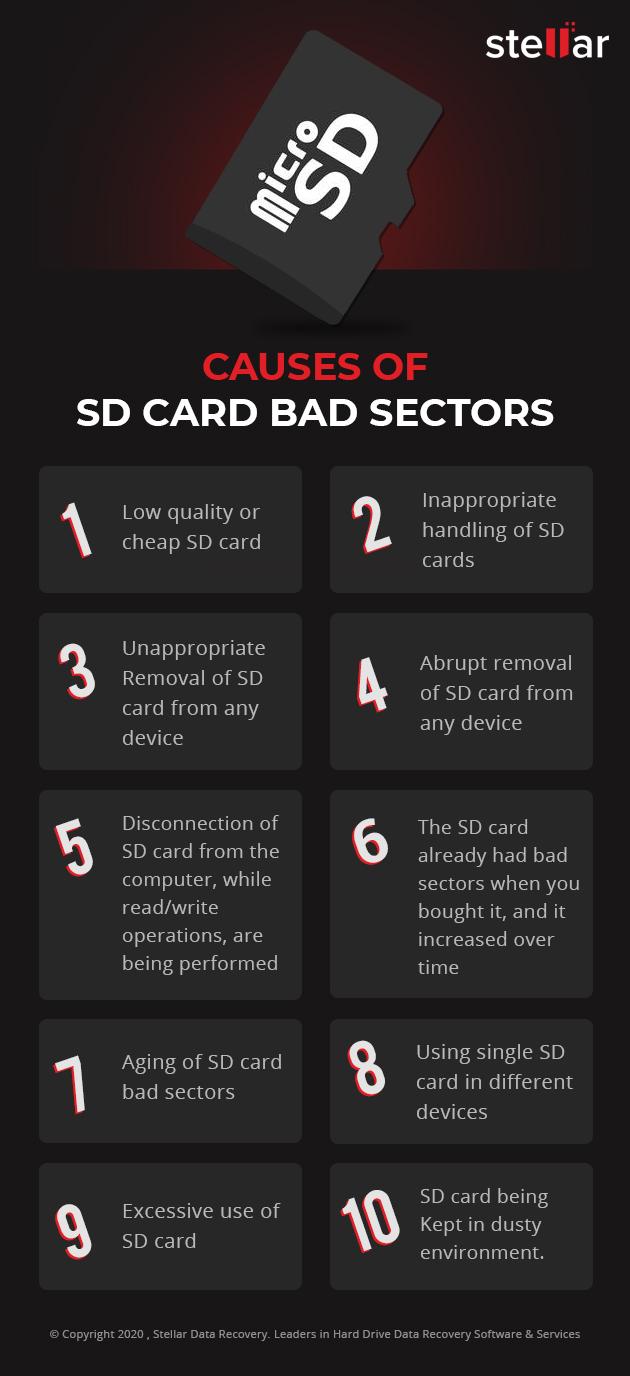 sd card bad sectors