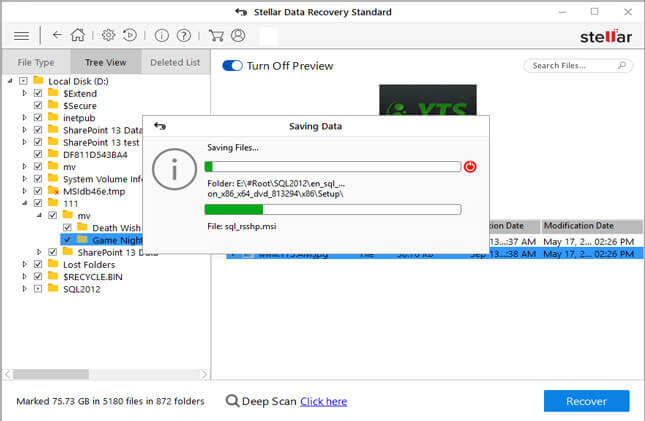 recover lost partition data