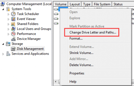 Change Drive letter and path