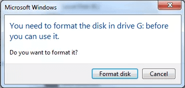 You need to format the disk in the drive before you can use it