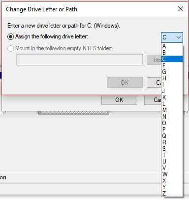 Change Drive Letter or path
