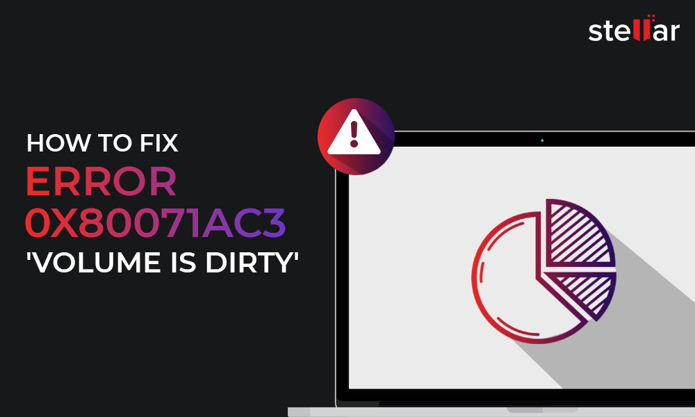 How to fix error 0x80071ac3 Volume is Dirty and how to recover data?