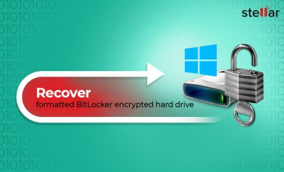 Recover formatted BitLocker encrypted hard drive