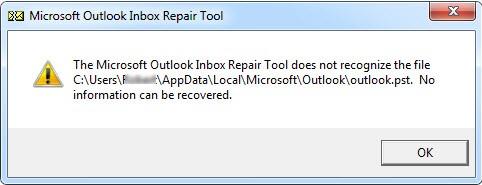 scanpst is not responding