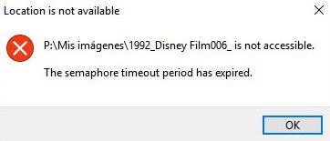 Semaphore Timeout Period Has expired