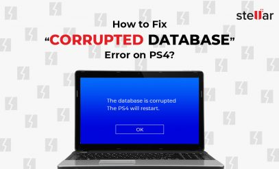 how to fix corrupted database error on PS4