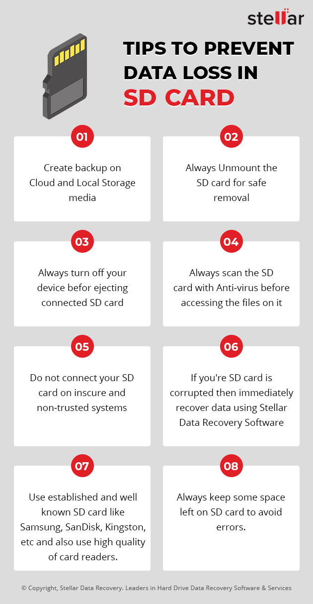 tips to prevent data loss in SD card