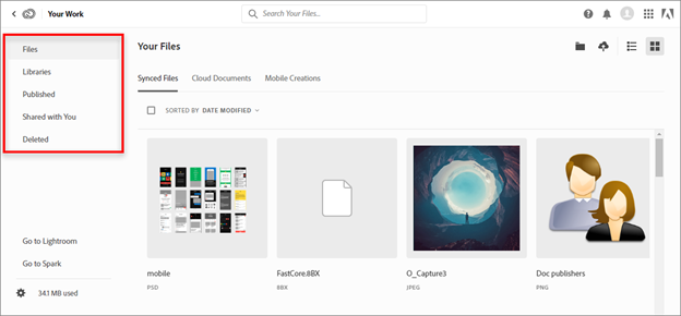 Deleted Folder in Adobe Creative Cloud