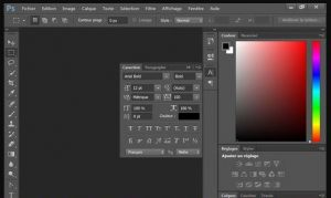 Photoshop interface Screen