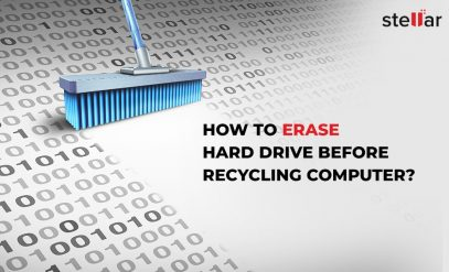 erase hard drive before recycling