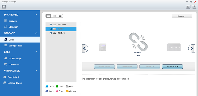 QNAP NAS From Missing Mode