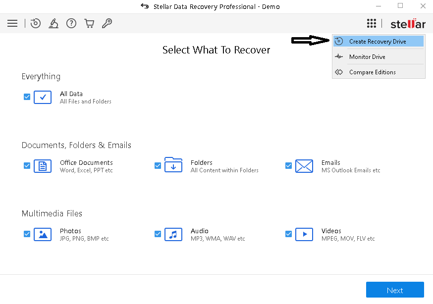 WDR-create-disk-recovery