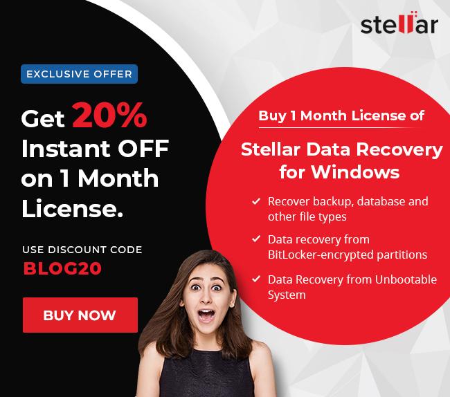 Stellar data recovery for windows