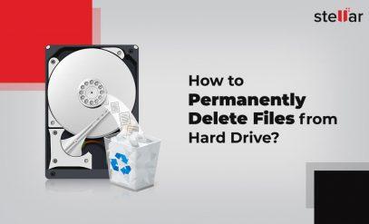 Delete data permanently