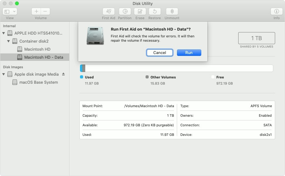 corrupted mac hard drive