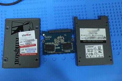 Dismantled Kingston SSD model SA400S37