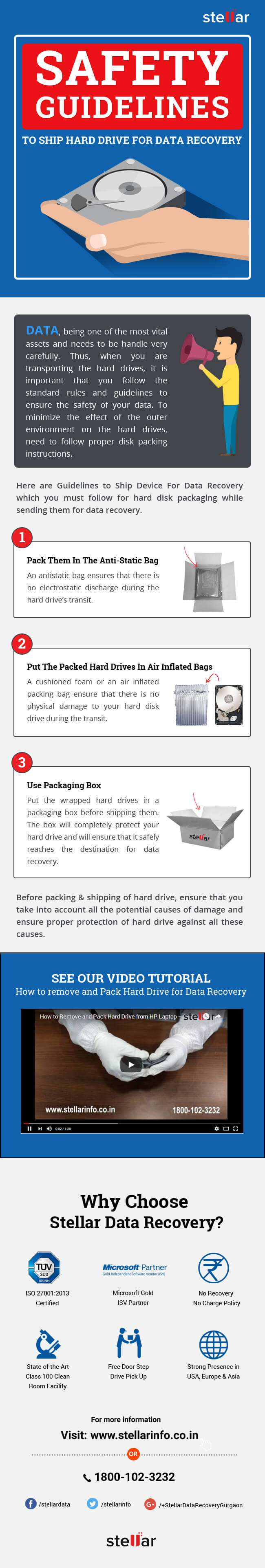 Hard drive packing & safety tips