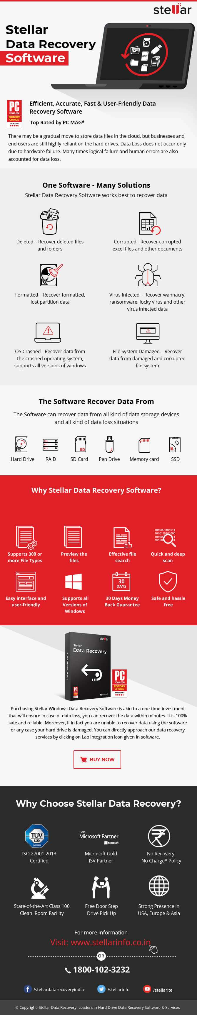 Stellar Data Recovery Software for Windows
