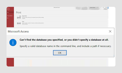 Can't Access Database