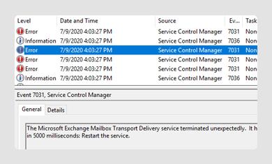 Corrupted Mailbox Database