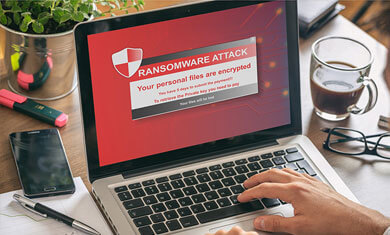 ransomware infected hard drive