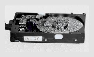 water damaged hard drive