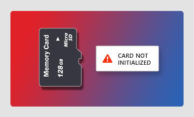 memory card not initialized