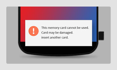 memory card can not be used