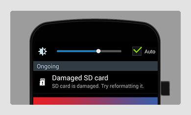 memory card damaged