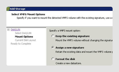 RE-FORMATTED VMFS DATASTORE