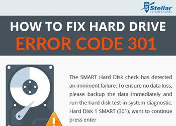 How to Fix Hard Drive Error Code 301