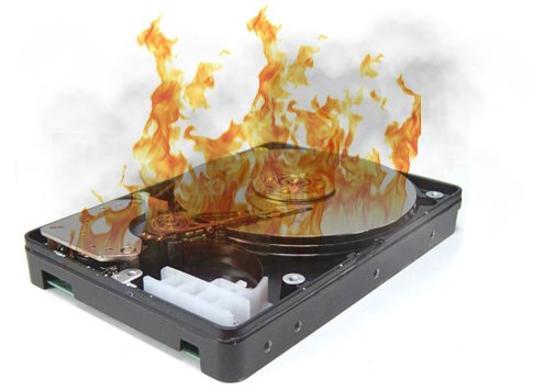 Burned hard drive recovery