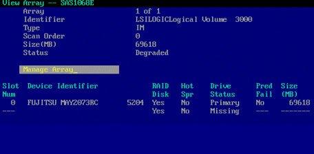 RAID Drive missing