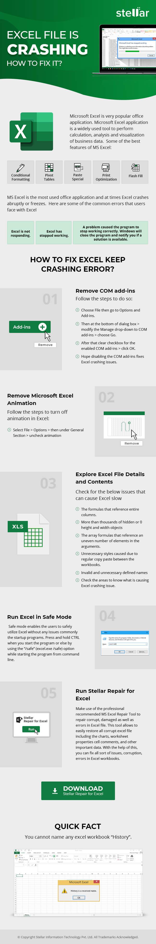 How to Fix 'Excel Not Responding Error'?