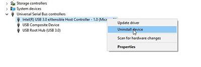 Reinstall USB Host Controller