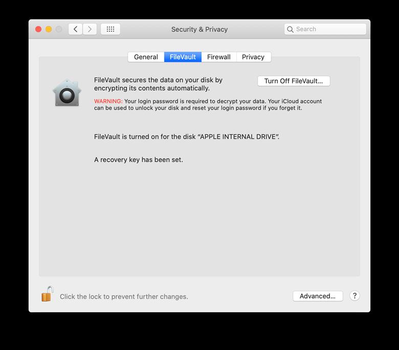 filevault encrypted mac
