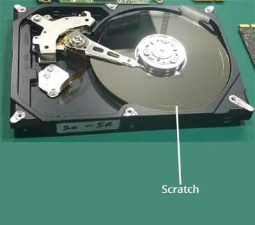 Scratch on Hard Drive Platter