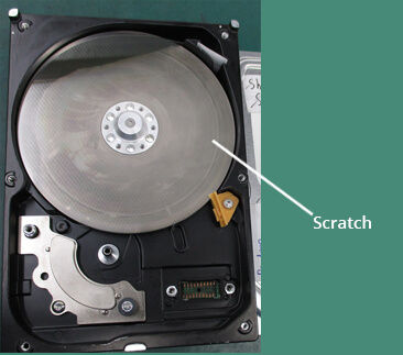 Hard drive Platter with scratch