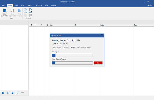 find list of all outlook data files